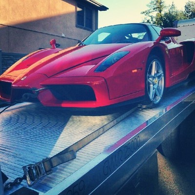 Red Ferrari Enzo Rich Kids Red Ca