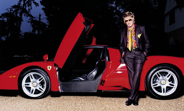 Rod Stewart Red Ferrari Hot Rod