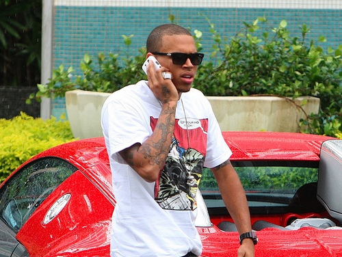 Chris Brown Red Bugatti Veyron